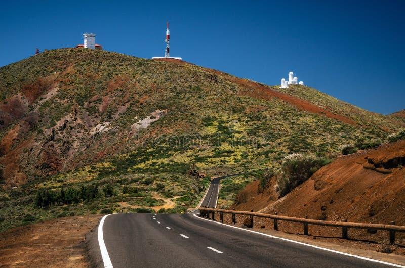 Obserwatorium na skłonach Teide wulkan w Tenerife obrazy royalty free