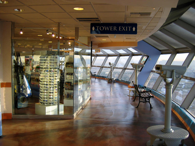Obserwatorski pokład, stratosfera, Las Vegas, Nevada, usa obrazy royalty free