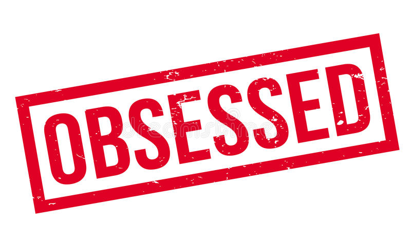 Obsessed rubber stamp royalty free illustration