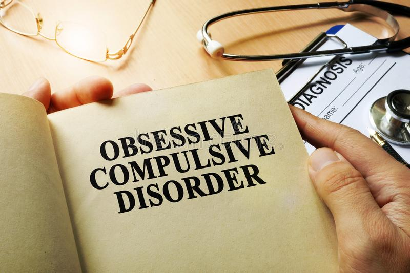 Obsessive compulsive disorder concept. stock images