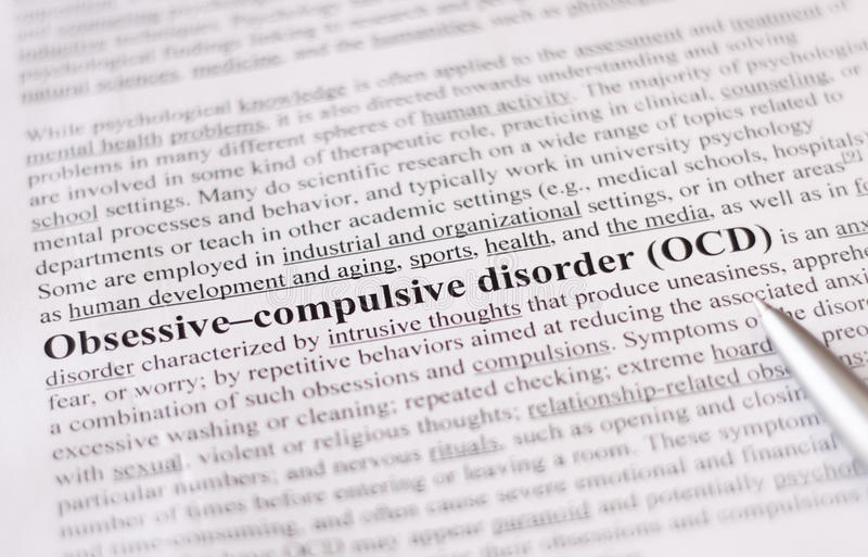 Download Obsessive Compulsive Disorder Or OCD. Education Or Healthcare Concept / Selective Focus. Stock Photo - Image: 36297528