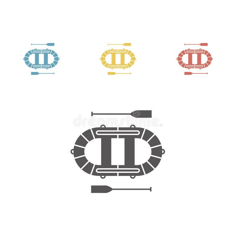 obskurny Nadmuchiwana łódkowata ikona Wektorów znaki dla sieci grafika royalty ilustracja