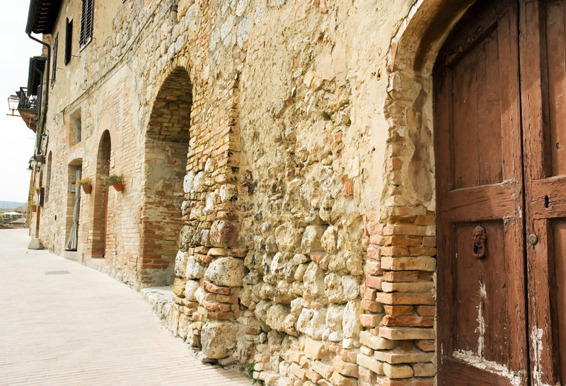 Obsolete building Tuscany Italy royalty free stock images