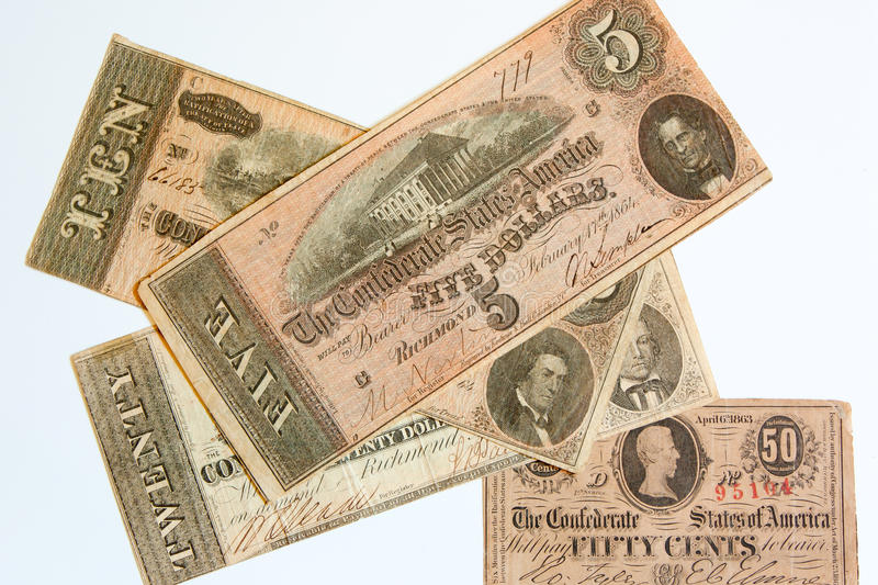 Download Obsolete Confederate Currency Stock Image - Image: 20076145