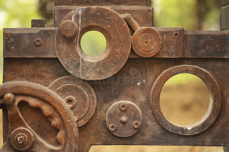 Obsolete Parts In Industry Remains Royalty Free Stock Photos