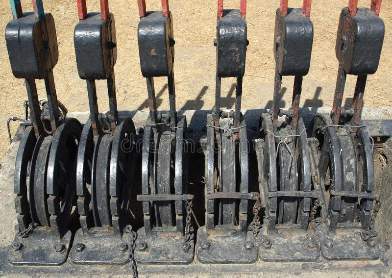 Obsolete Railroad Switches stock photography