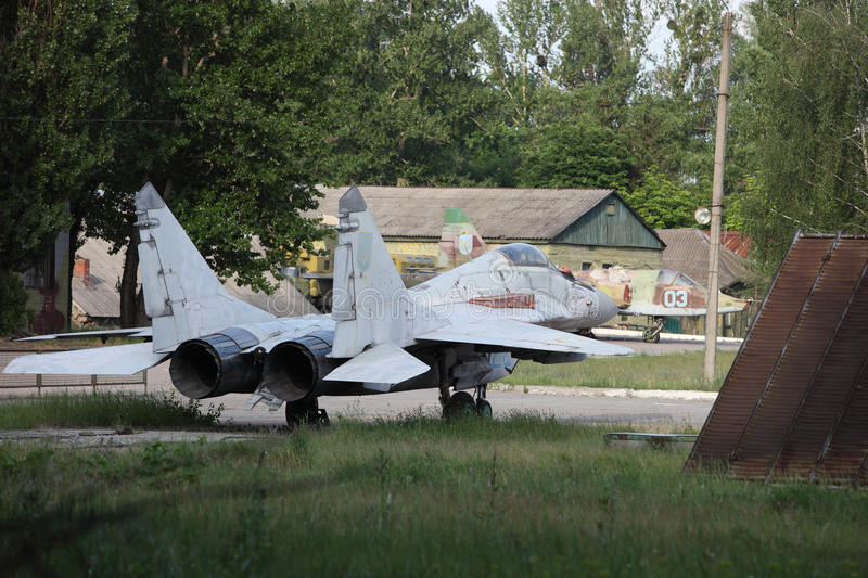Obsolete Russian Fighter Royalty Free Stock Image