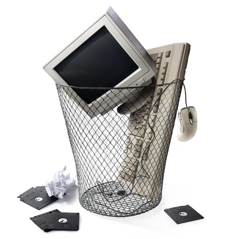 Free Obsolete Technology, Keyboard CPU And Monitor Stock Photos - 25350733
