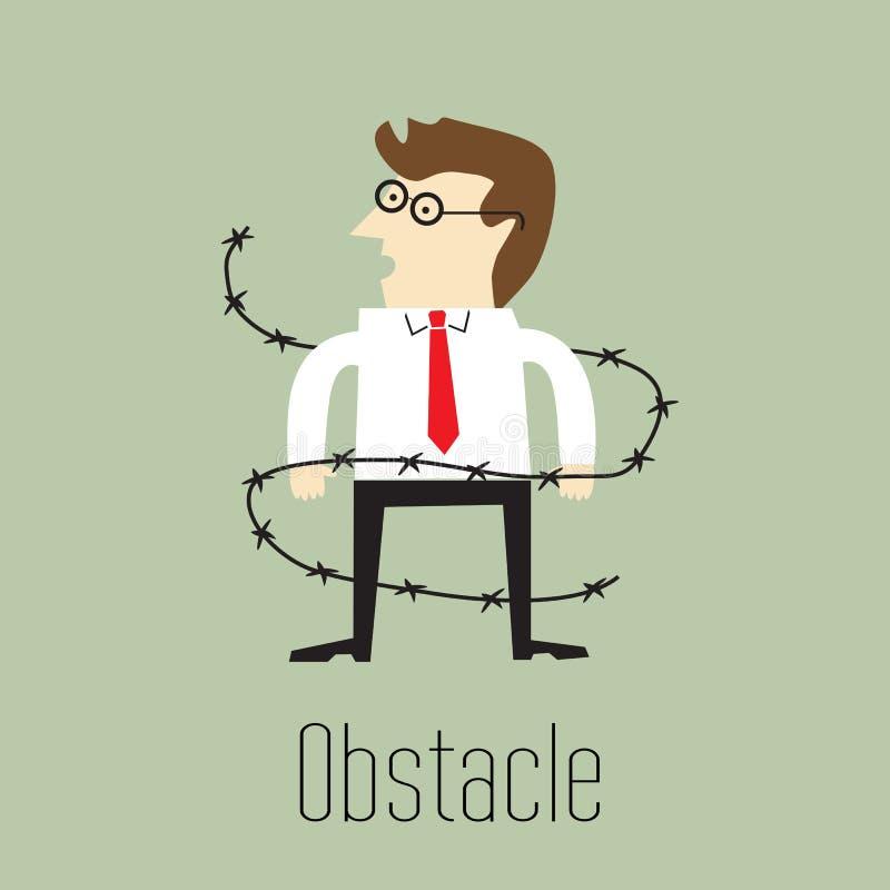 Obstáculo stock de ilustración