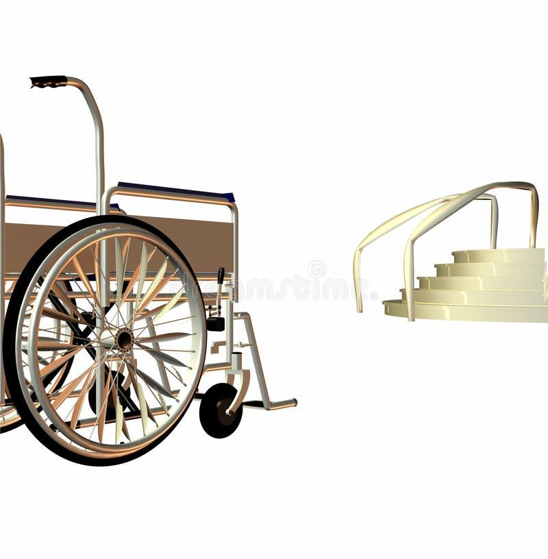 Obstáculo da cadeira de rodas ilustração royalty free