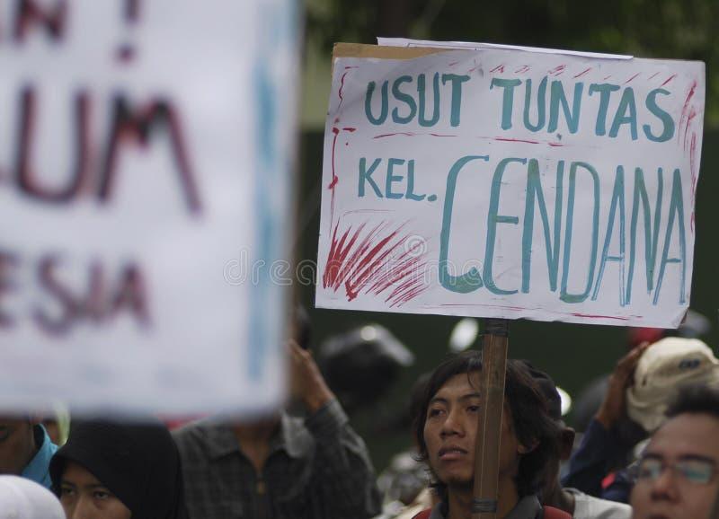 OBSTÁCULO DEMOCRÁTICO S DE INDONESIA imagen de archivo libre de regalías