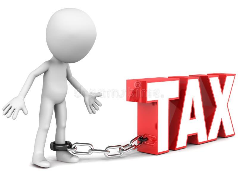 Obstáculo do imposto ilustração do vetor