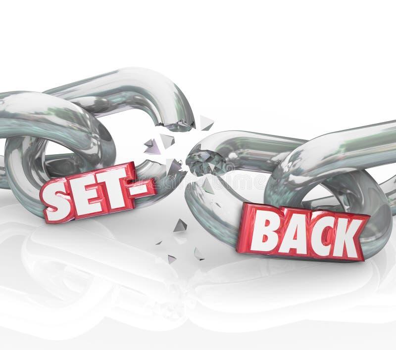 Obstáculo negativo roto palabra Challe del resultado de las alambradas del revés stock de ilustración