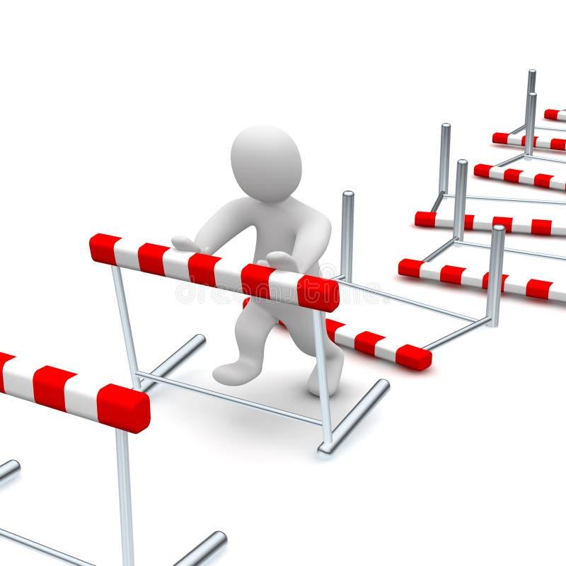 Obstáculos ilustração stock