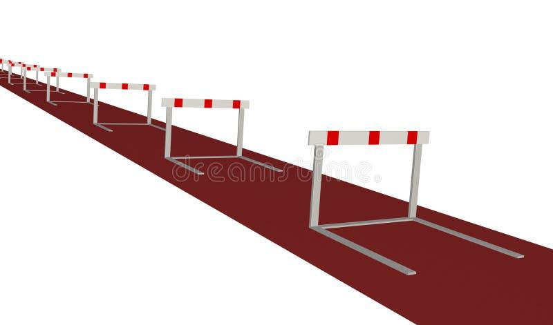 Obstáculos ilustração royalty free