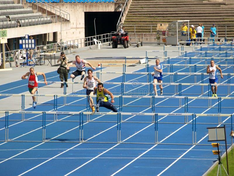 Obstáculos curtos foto de stock