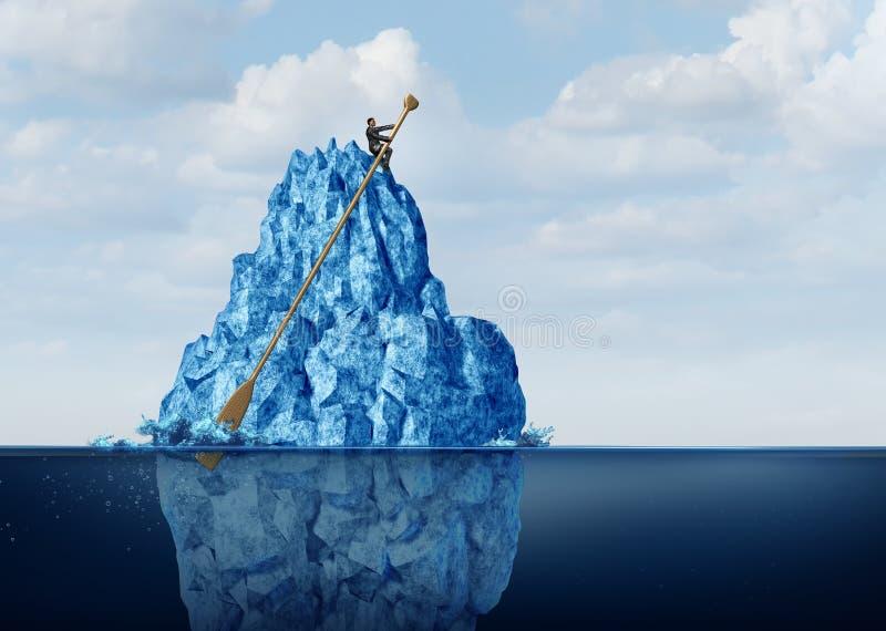 Obstáculos de manejo del negocio ilustración del vector