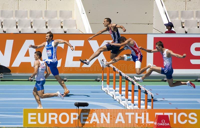 Obstáculos do atletismo foto de stock