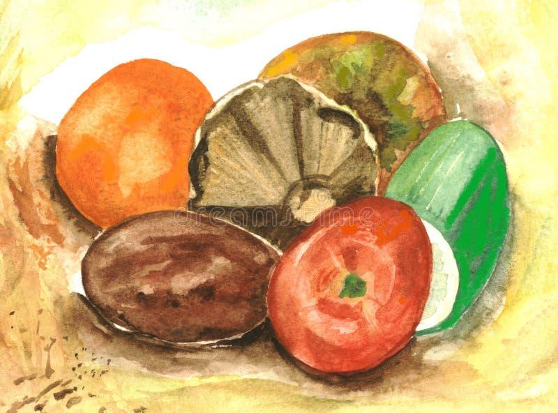 Obst und Gemüse. lizenzfreie abbildung