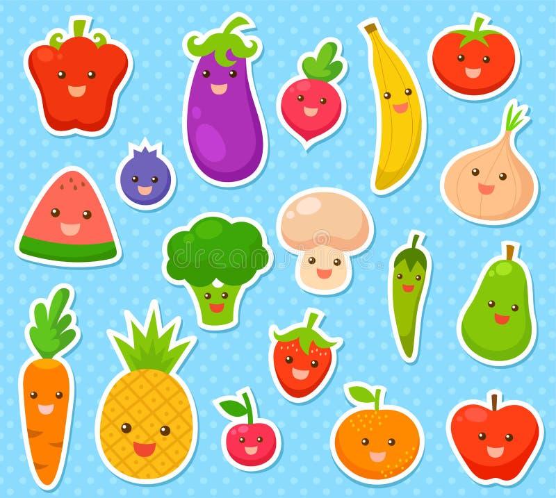 Download Obst und Gemüse vektor abbildung. Illustration von kirsche - 40605498