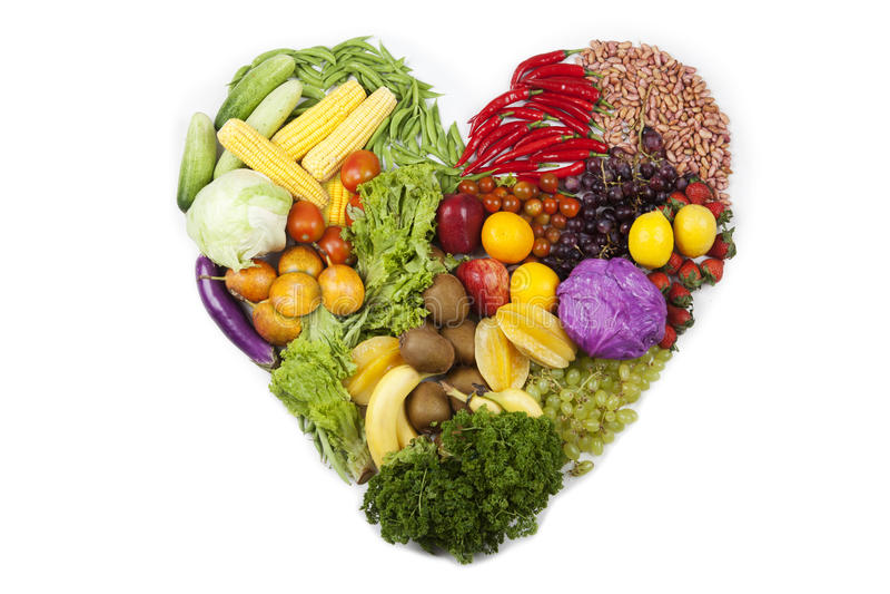 Obst- und Gemüse Inneres stockbild