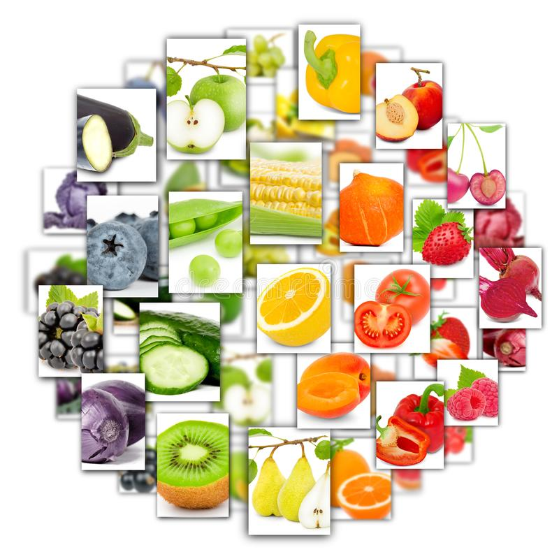 Obst- und Gemüse Mischung lizenzfreie stockfotografie