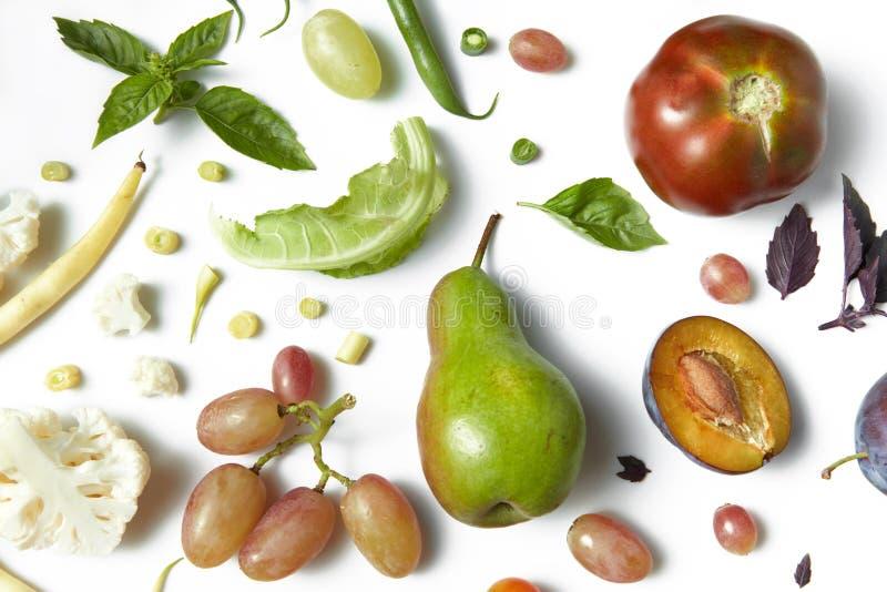 Obst und Gemüse organisch für gesundes lizenzfreies stockfoto
