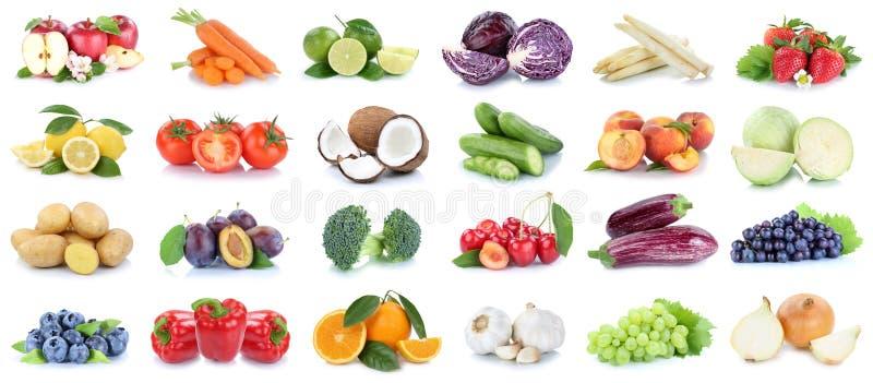 Obst- und Gemüse Sammlungsapfel-Orangentrauben Gemüse lizenzfreies stockbild