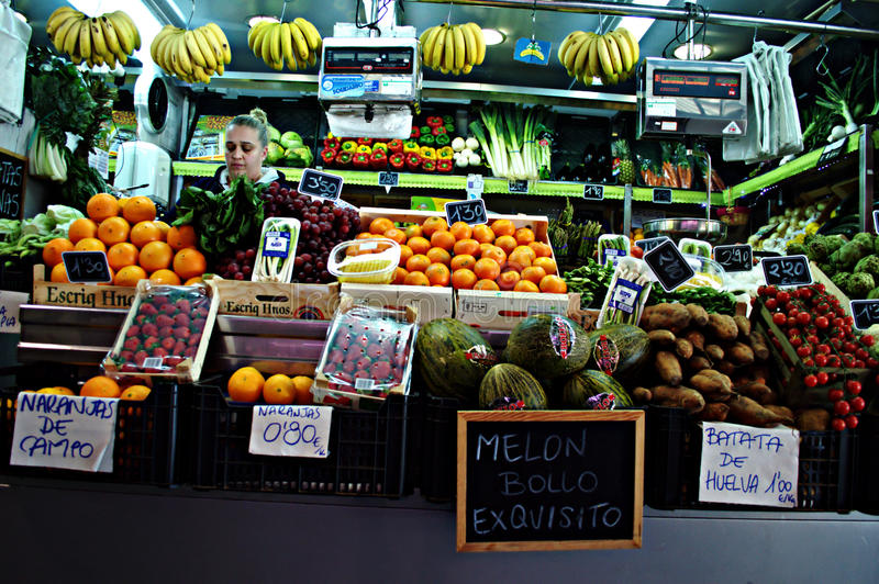 Obst-und Gemüsehändler 18 stockbild