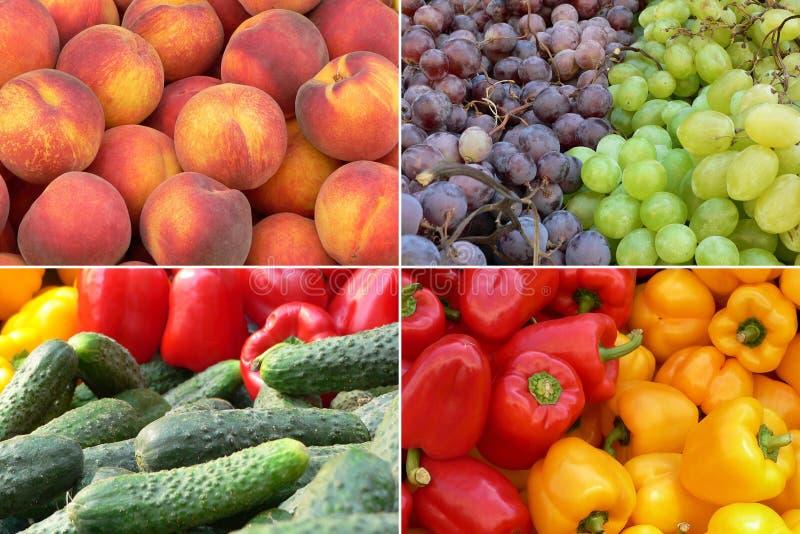 Obst- und GemüseHintergrund lizenzfreies stockfoto