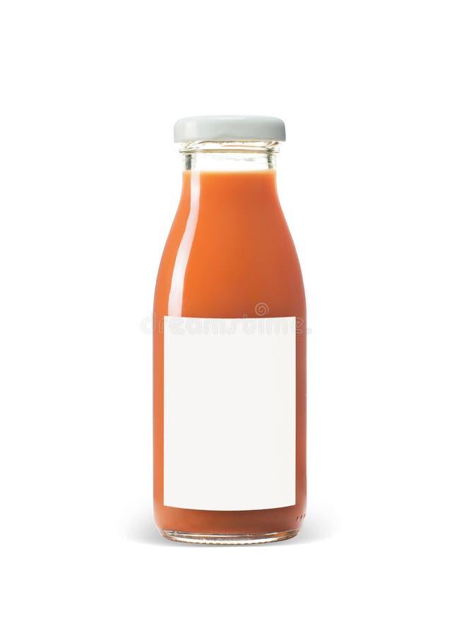 Obst- und gemüsesaft Flasche lokalisiert auf weißem Hintergrund stockfotos