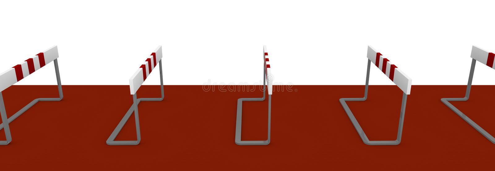 Obstacle. Some obstacles, concept of difficulty or problem (3d render vector illustration