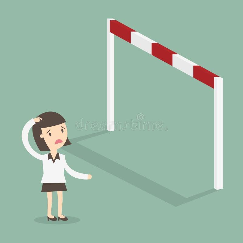 obstacle illustration de vecteur