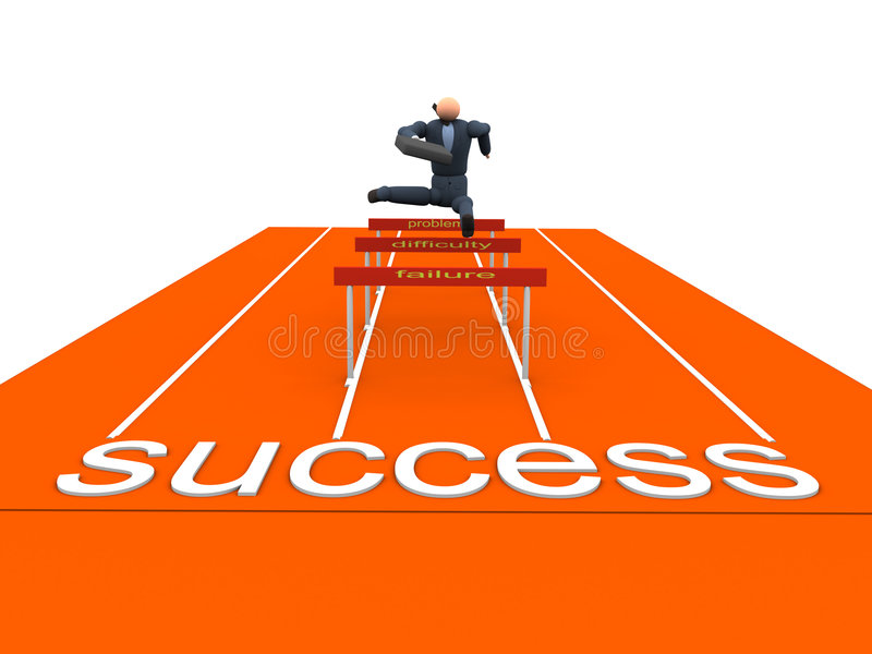 Obstacle Business stock illustration