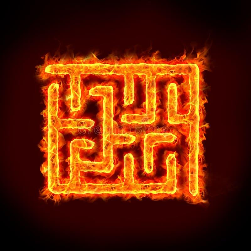 Obstacle de labyrinthe illustration stock