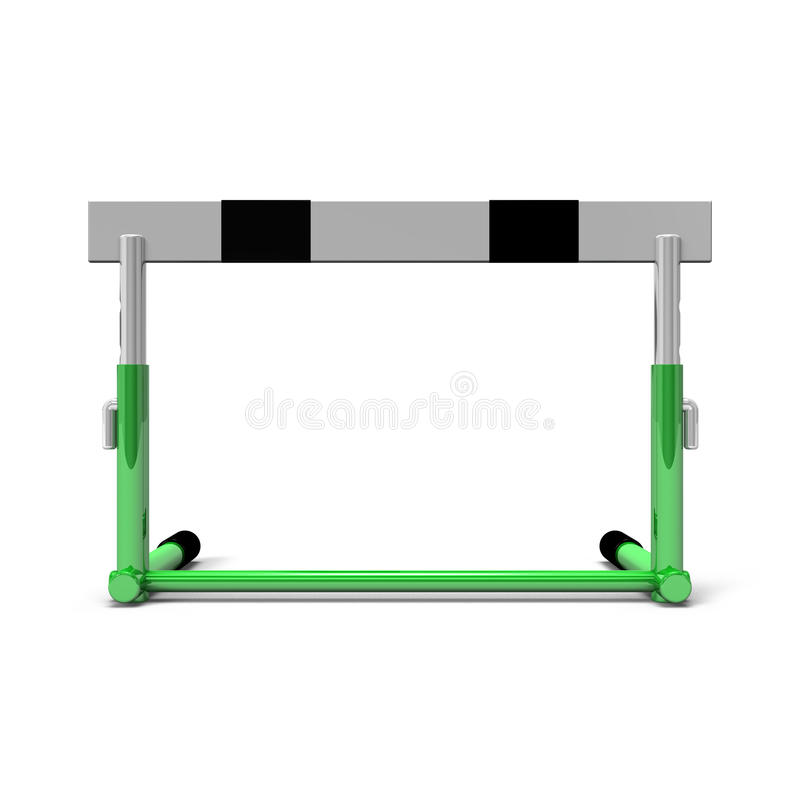 Obstacle Front View illustration stock