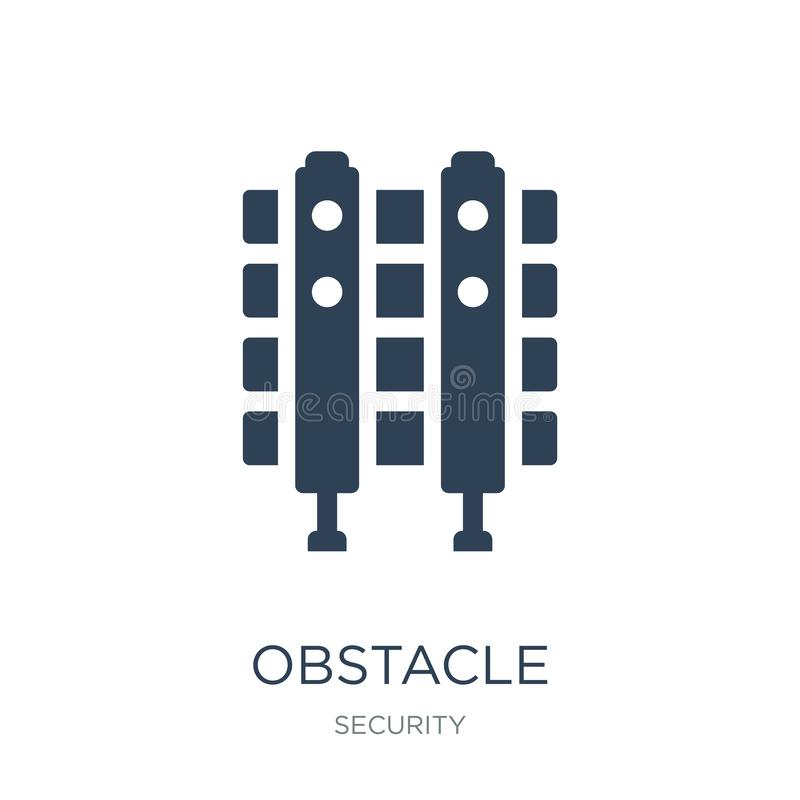 obstacle icon in trendy design style. obstacle icon isolated on white background. obstacle vector icon simple and modern flat stock illustration