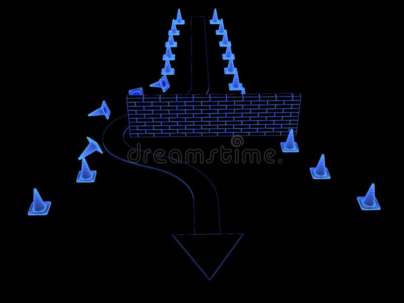 Download Obstacle overcoming stock illustration. Illustration of hindrance - 14425422