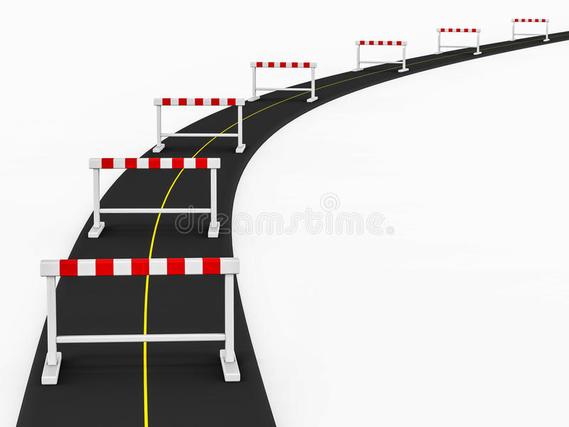 Obstacle path stock images
