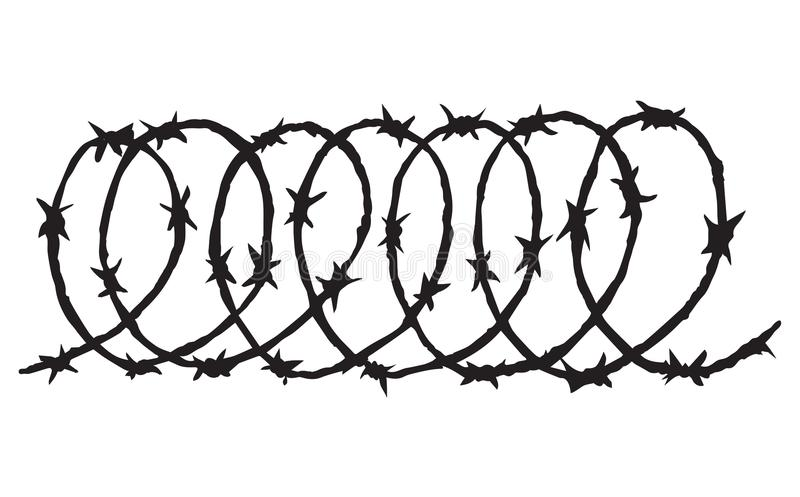 Barbed Wire. Vector Drawing Stock Vector - Illustration of ...