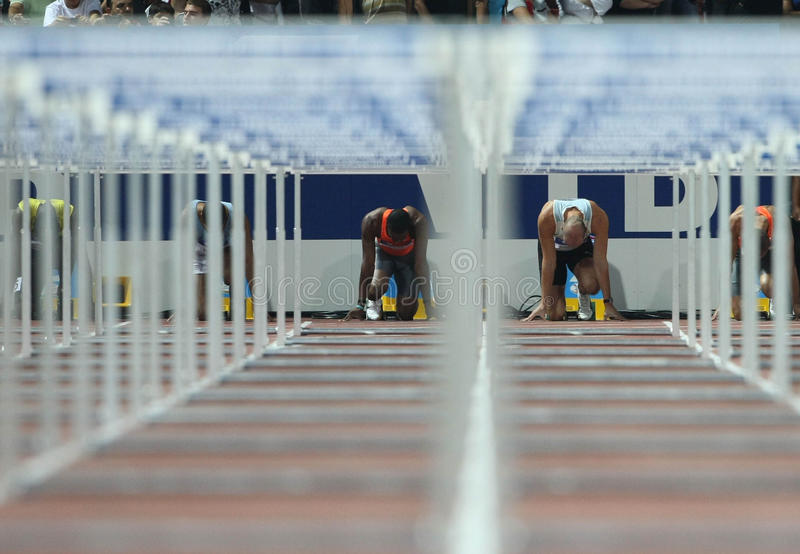 Obstacles finaux image stock