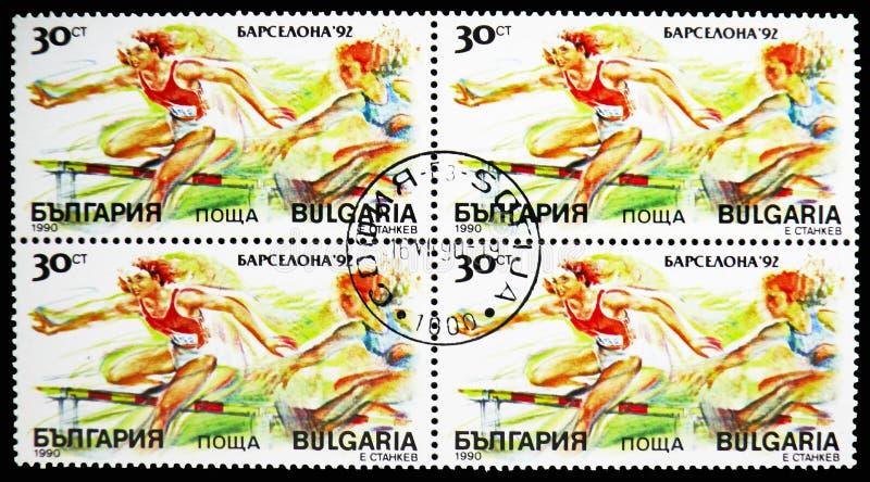 Obstacles, Jeux Olympiques 1992 d'été - serie de Barcelone (i), vers 1990 illustration libre de droits