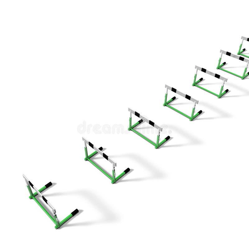 Obstacles sur l'au sol de dos de blanc illustration libre de droits