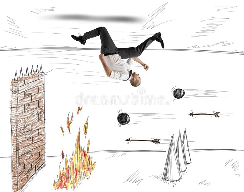 Obstacles to work vector illustration