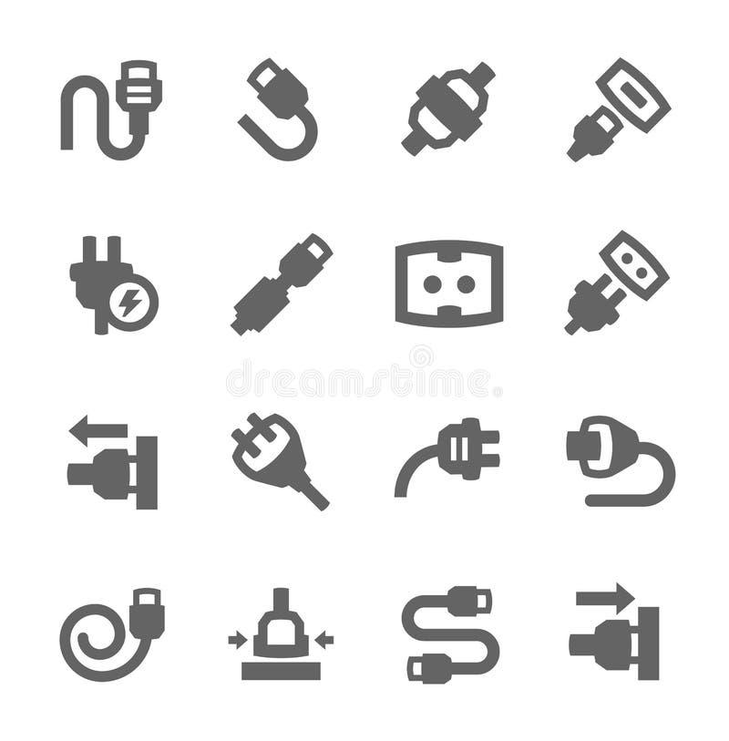 Obstrua dentro ícones ilustração stock