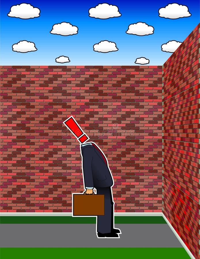 Obstrucción stock de ilustración
