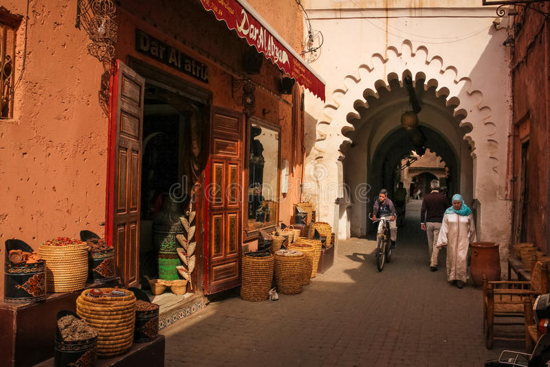2008 obszarów Barcelona barri może gottic sceny Hiszpanii street marrakesh Maroko zdjęcie royalty free