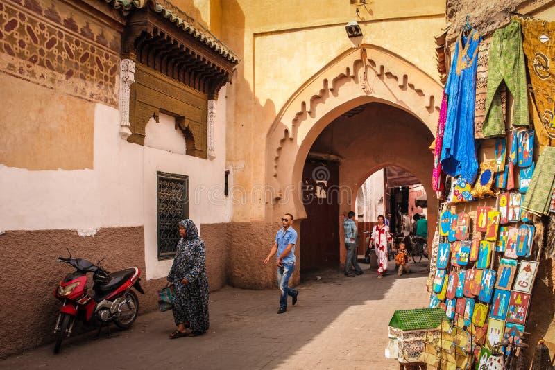 2008 obszarów Barcelona barri może gottic sceny Hiszpanii street marrakesh Maroko fotografia royalty free
