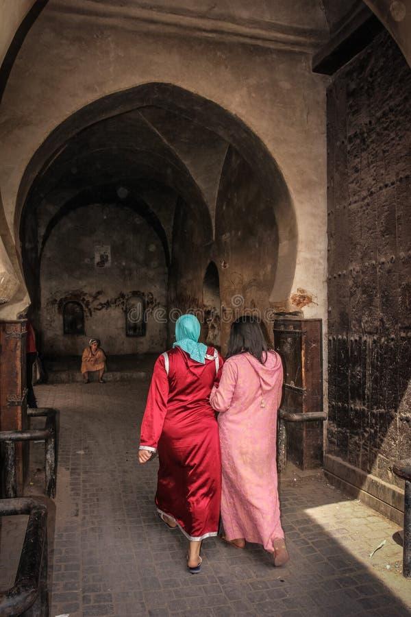 2008 obszarów Barcelona barri może gottic sceny Hiszpanii street Wejście garbarnie marrakesh Maroko fotografia royalty free
