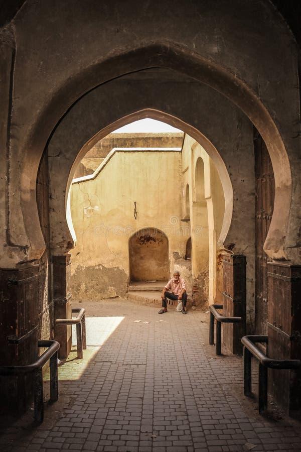 2008 obszarów Barcelona barri może gottic sceny Hiszpanii street wejście marrakesh Maroko zdjęcie stock